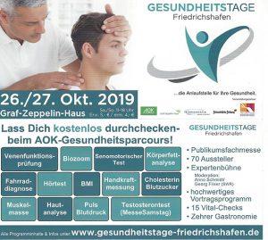 Gesundheitstage Friedrichshafen 2019 Schreinerei Plocher